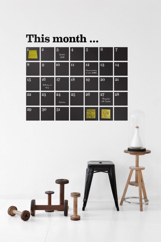 Sticker mural calendrier Ferm Living