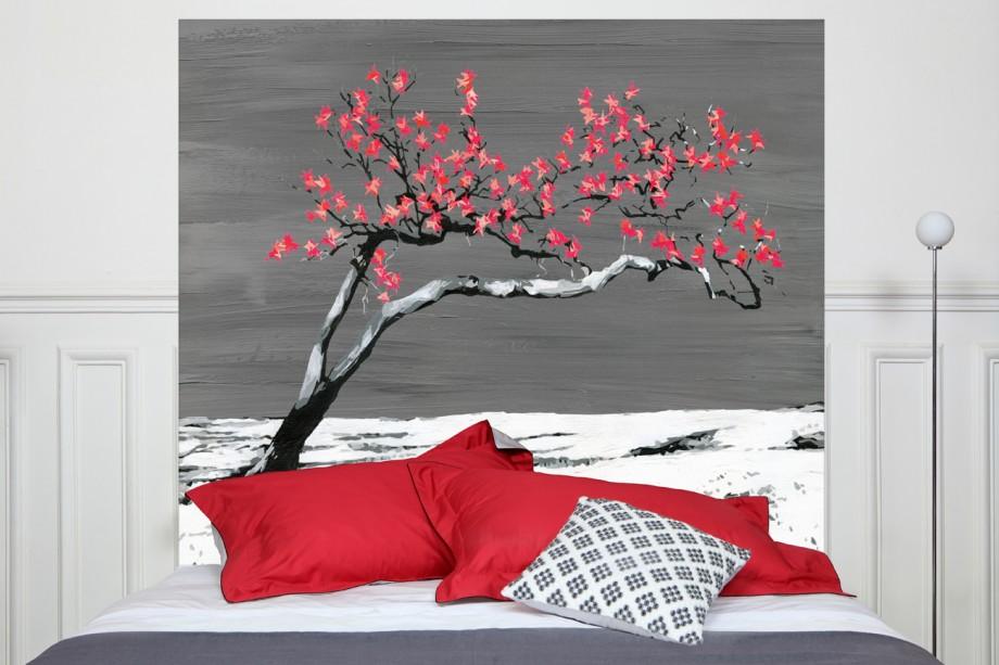 T te de lit arbre japonais mademoiselle tiss - Tete de lit mademoiselle tiss ...