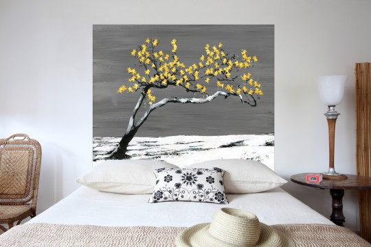 Tête de lit Cerisier fleu japonais - Mademoiselle Tiss