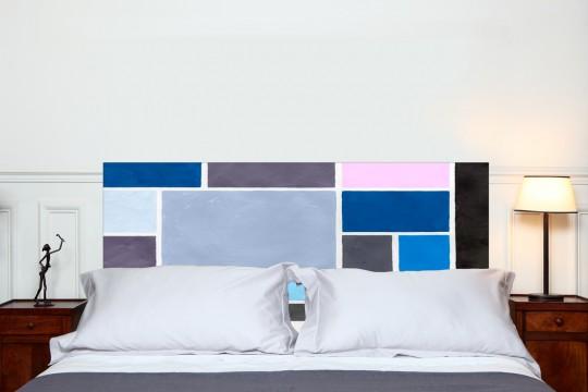 Tête de lit Poudre bleu - Mademoiselle Tiss