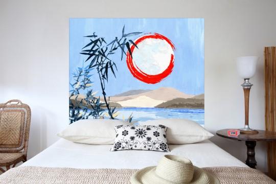Tête de lit Sous la lune bleue - Mademoiselle Tiss