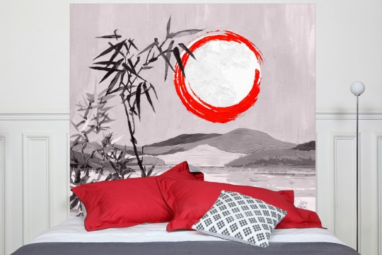 Tête de lit Sous la lune monochrome - Mademoiselle Tiss