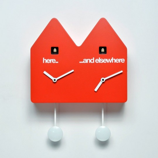 Horloge double coucou design