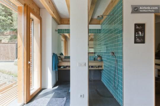 Maison du 19ème siècle - salle de bain ouverte