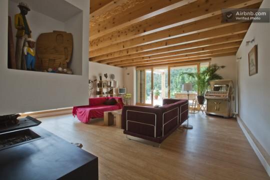 Maison du 19ème siècle - salon tout en bois