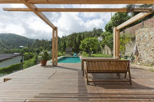 Maison du 19ème siècle - terrasse avec piscine