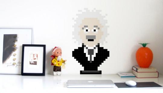 Puzzle Albert Einstein pixellisé Puxxle