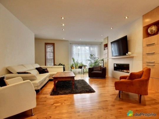Salon d'une maison à vendre à Sillery au Québec