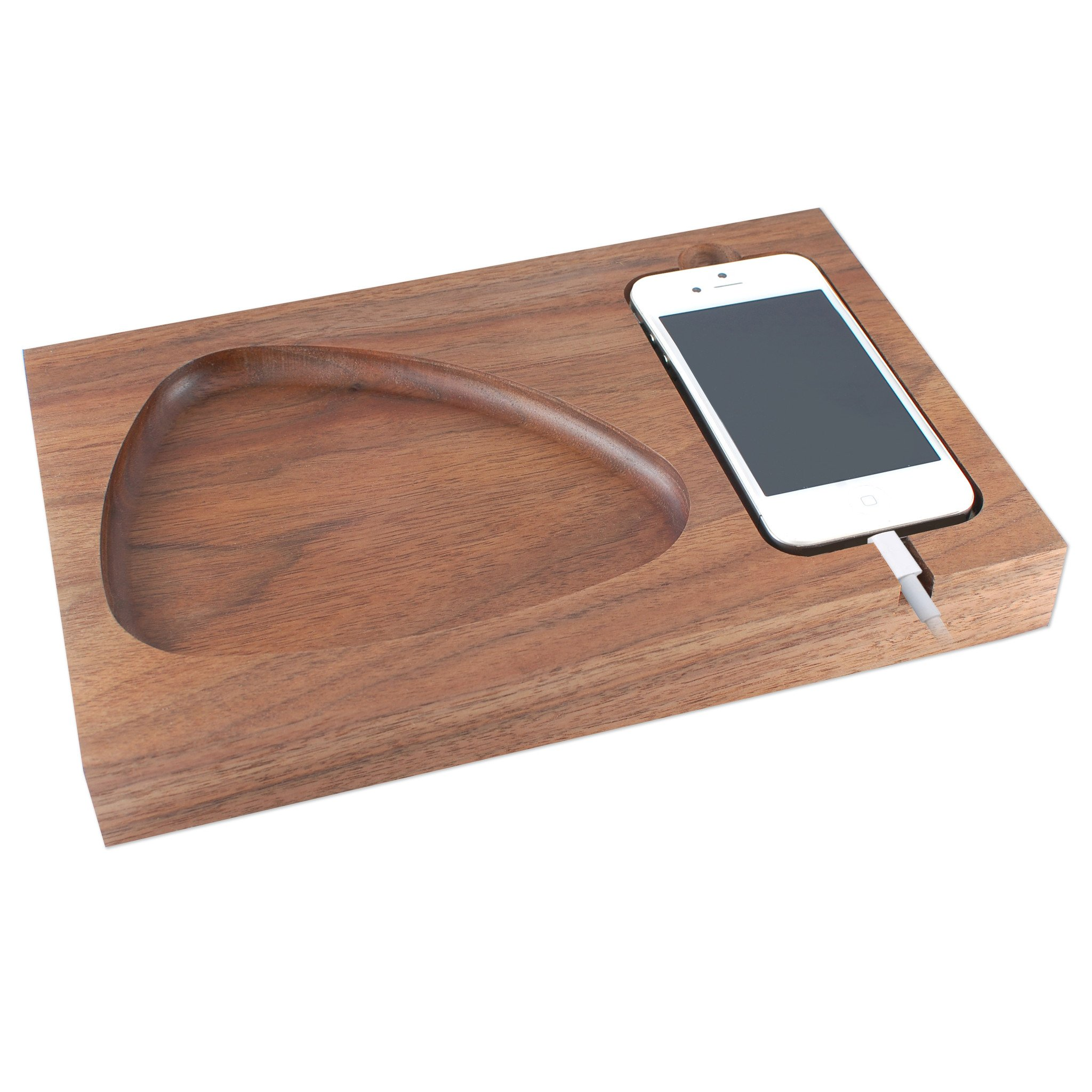 Station d'accueil iPhone en noyer Tinsel & Timber