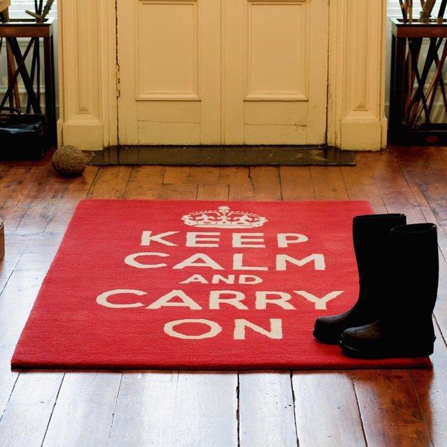 Tapis Keep Calm and Carry On (Restez calme et continuez)