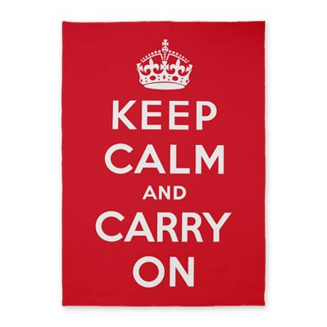Tapis Keep Calm and Carry On (Restez calme et continuez)