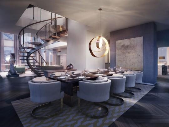 Appartement Rupert Murdoch Manhattan - Salle à manger