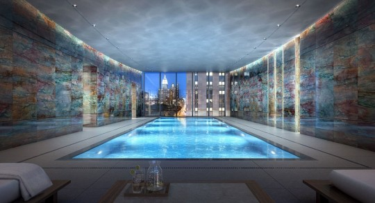 Appartement Rupert Murdoch New-York - piscine intérieure