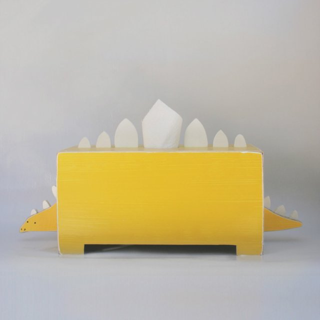 boite mouchoirs un dinosaure jaune pour stocker vos kleenex. Black Bedroom Furniture Sets. Home Design Ideas