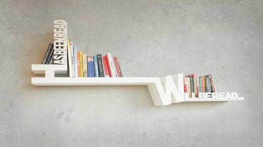 Etagère typographique pour trier vos livres