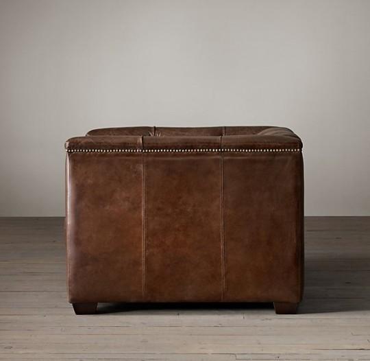 Fauteuil club en cuir Art Déco Savoy