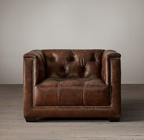 Fauteuil Club en cuir style Art Déco : Savoy Chair