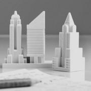 Gomme buildings et gratte-ciels de New-York