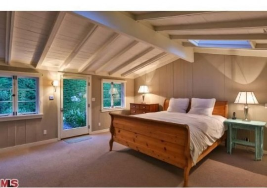 Propriété de Leonardo DiCaprio à Malibu - chambre sous les toits