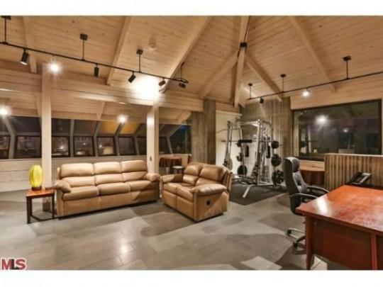 Propriété de Leonardo DiCaprio à Malibu - espace fitness