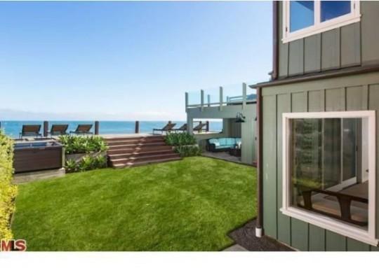 Propriété de Leonardo DiCaprio à Malibu - jardin au bord de mer