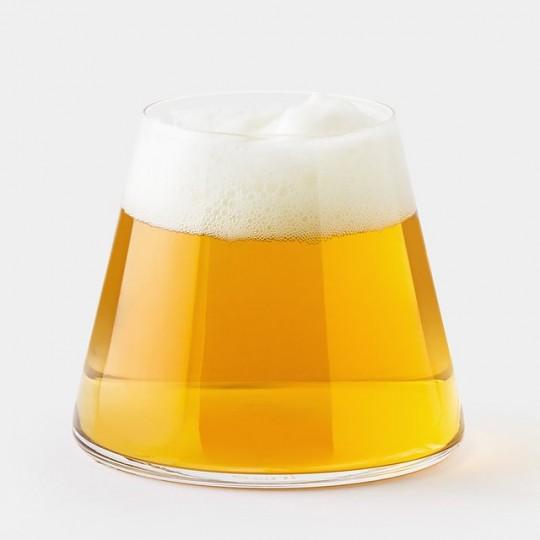 Verre à bière design en forme de Mont Fuji Futagami