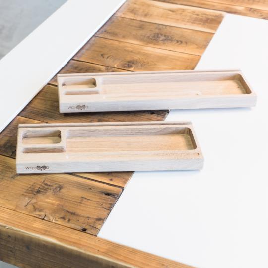 Woganizer - Organiseur de bureau en bois simple et pratique