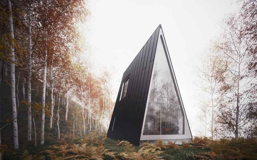 Maison triangulaire une maison en forme de triangle for Maison atypique definition