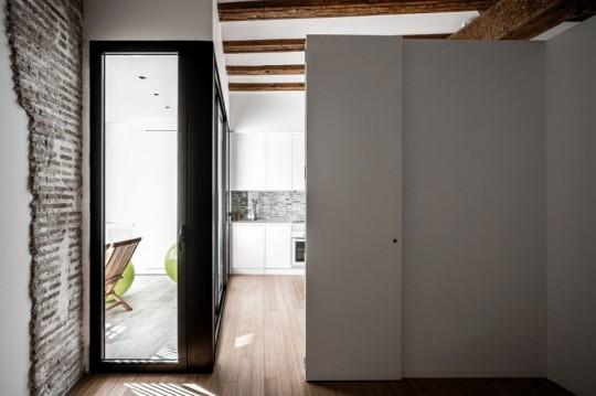 Appartement rénové El Carmen à Valence en Espagne - accès à la cuisine