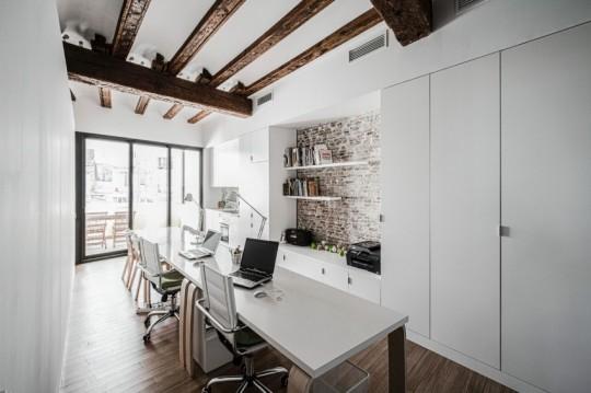 Appartement rénové El Carmen à Valence en Espagne - bureau