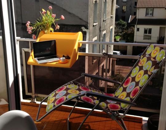 Bureau Balkonzepft à accrocher sur le balcon
