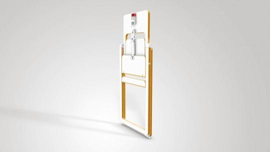 mobilier b b supaflat la chaise haute pliable extra plate 4 2 cm d 39 paisseur. Black Bedroom Furniture Sets. Home Design Ideas