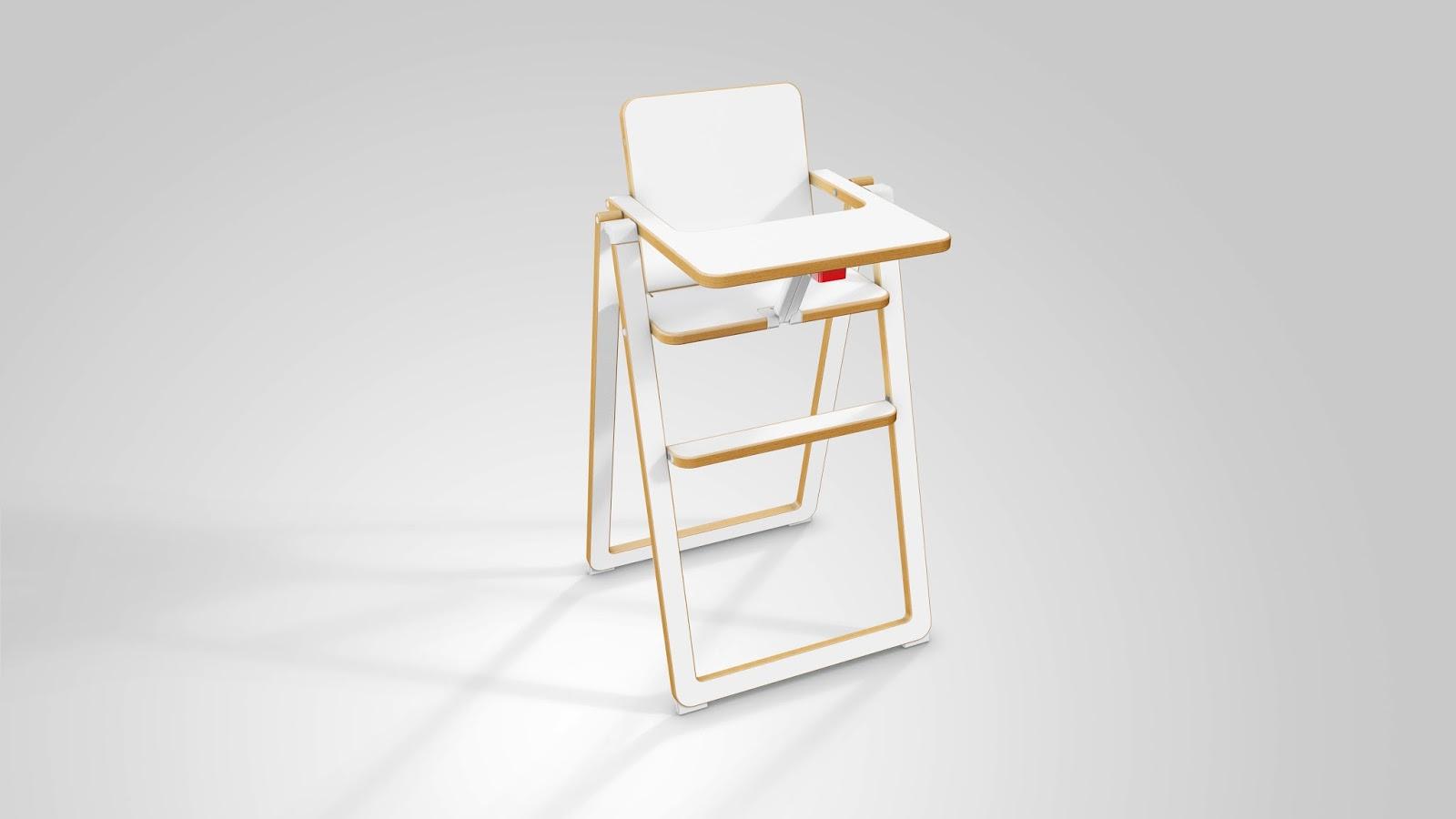 Chaise haute pliante ultra plate supaflat natalys for Chaise haute cuisine pliante