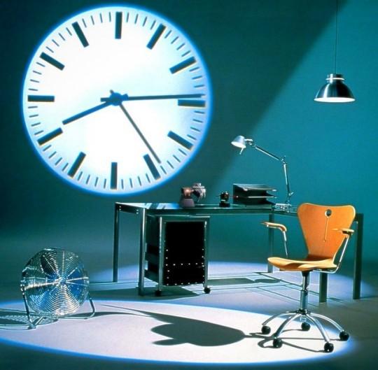 Horloge projecteur à LED