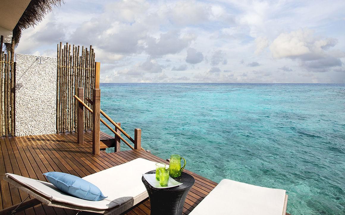 Voyage privé : Un hôtel de luxe sur l'île d'Hembadhu (Maldives)