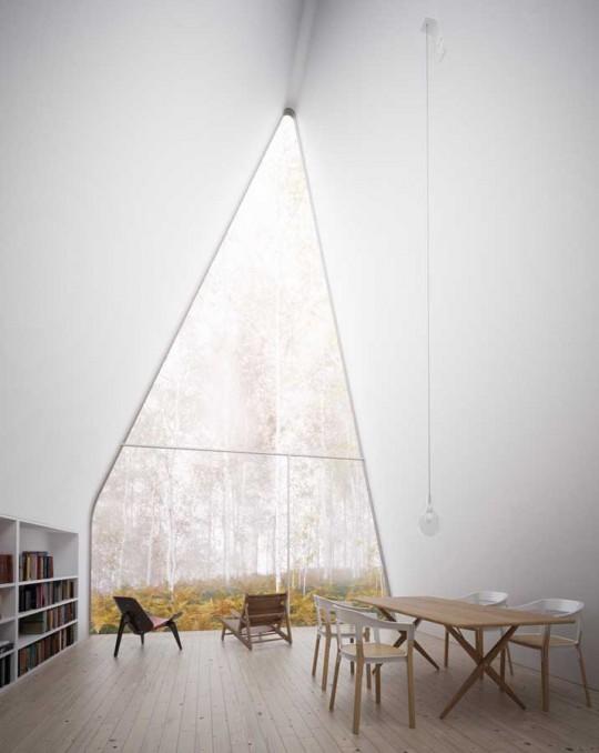 Intérieur de la maison triangulaire Allandale