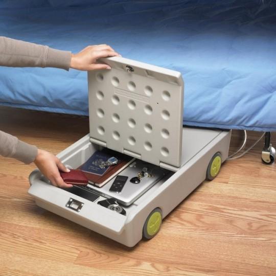 Lock and Roll - Coffre-fort roulant à ranger sous votre lit