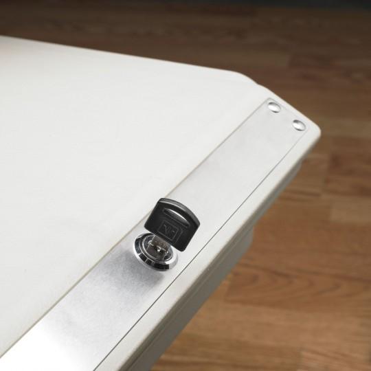 Lock and Roll - Coffre-fort roulant à ranger sous votre lit - clé