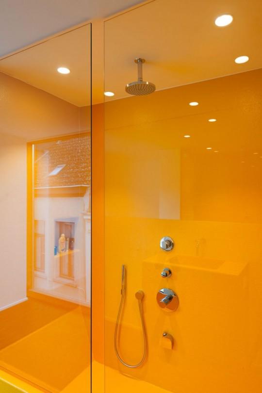 Maison de ville LKS - Douche italienne jaune