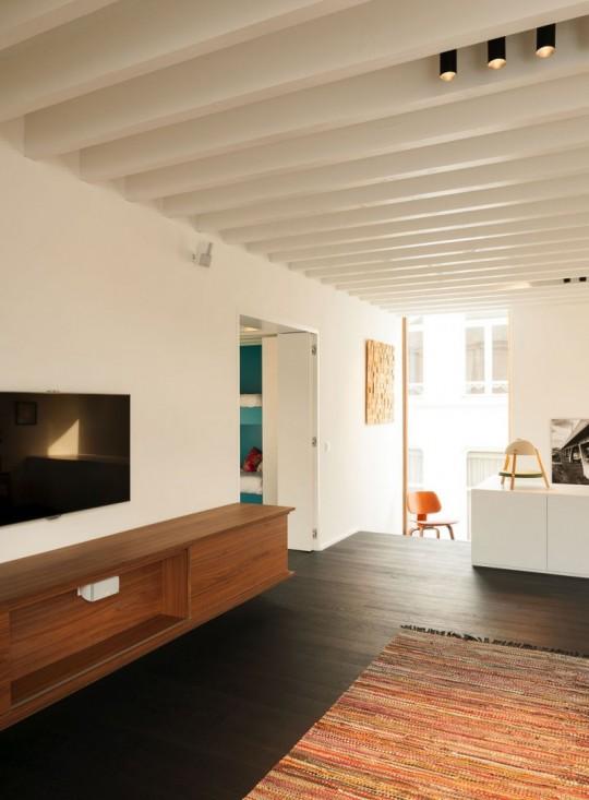 Maison de ville contemporaine - Espace lounge home cinéma