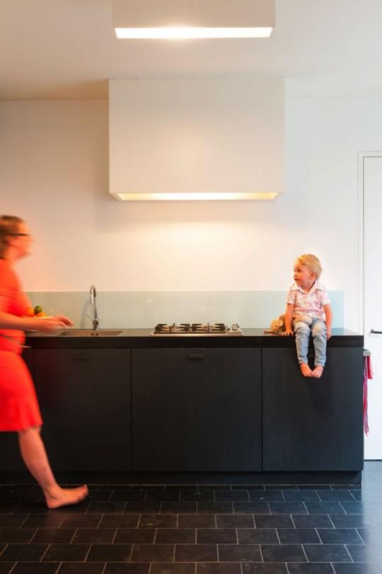 Maison de ville contemporaine - cuisine