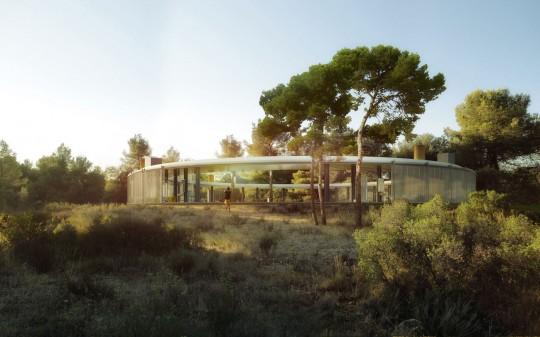 Maison en forme d'anneau Casa Solo Office