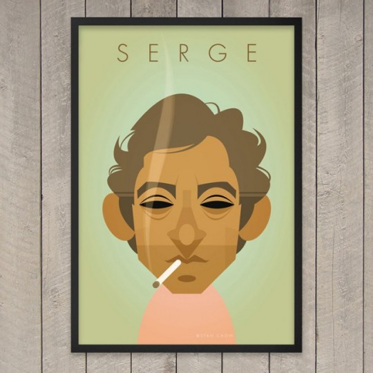Retro print - tableau de Serge Gainsbourg