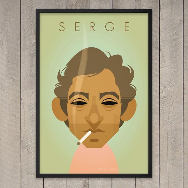 Retro Print : Portraits décalés de célébrités (Gainsbourg, Marylin…)
