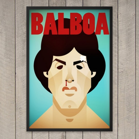 Tableau Rocky Balboa avec Silvester Stallone