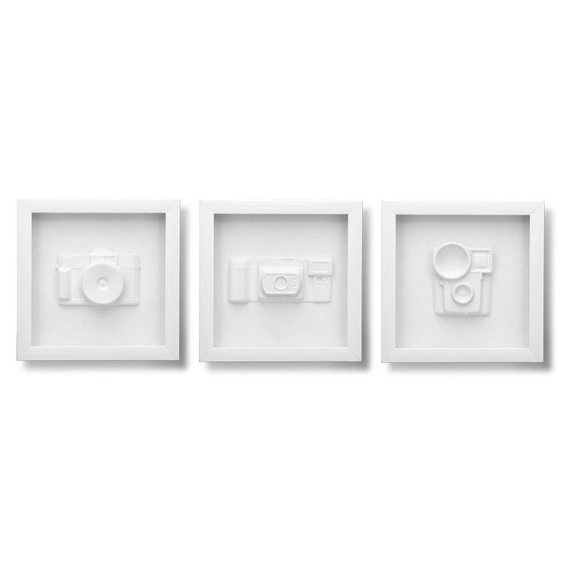 Tableaux en relief : Moulages d'appareils photo vintage encadrés
