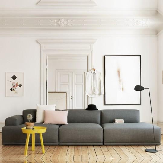 Canapé Connect Muuto avec tissu Kvadrat