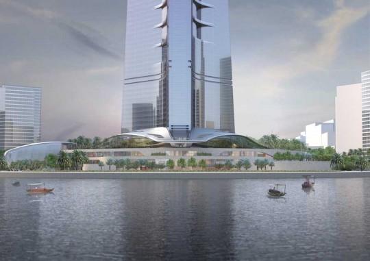 Kingdom Tower - lac autour de la plus haute tour du monde