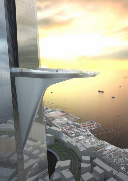 Kingdom Tower - plateforme ronde avec vue panoramique