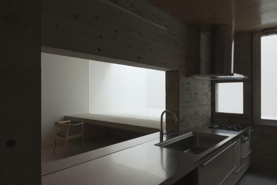 Maison sans fenêtres - cuisine